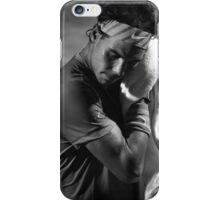 Rafa toweling off (B&W) iPhone Case/Skin