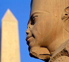 Statue of Amun-Re with Obelisk, Karnak (Egypt) by Petr Svarc