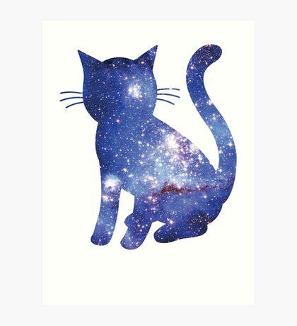 Magellan Blue | Space Kitty Art Print