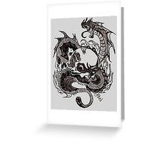Dragon Death Greeting Card
