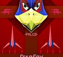Star Fox - Falco Lombardi Propaganda Style Print by SuchPsycho