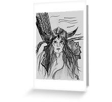 Princess Warrior Greeting Card