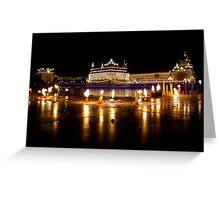 Celebration of Guru Nanak's Birthday at Golden Temple-II Greeting Card