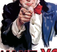"""Uncle Sam """"I Want You""""  Sticker"""