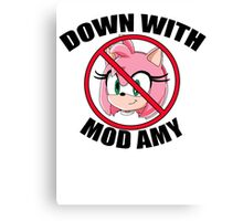 DOWN WITH MOD AMY Canvas Print