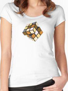 Rubiks Bear Women's Fitted Scoop T-Shirt