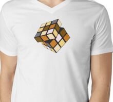 Rubiks Bear Mens V-Neck T-Shirt