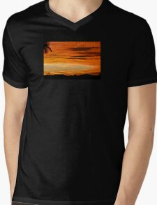 Surprise Sunset Mens V-Neck T-Shirt