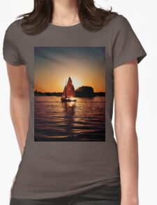 Sailing Silhouettes Womens Fitted T-Shirt