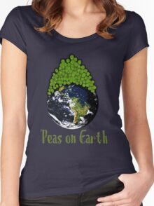 Peas on Earth - Cartoony Women's Fitted Scoop T-Shirt
