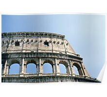 Detail of Colosseum (Colosseo) in Rome, Italy  Poster