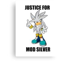 JUSTICE FOR MOD SILVER Canvas Print