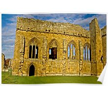 Egglestone Abbey Ruins - Co Durham Poster