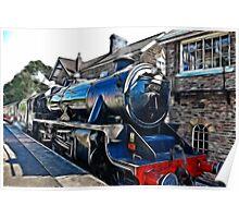 Redfield Steam Train Poster