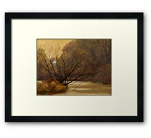 Autumn on the River Framed Print