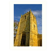 Church Tower - Romaldkirk Co Durham Art Print