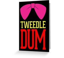 Tweedle Dee Tweedle Dum Costume Greeting Card