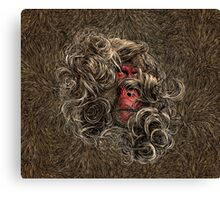 Makak In The Wind Canvas Print
