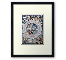 Lunar Calendar 2016 Framed Print