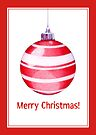 Christmas Ornament Red by Mariana Musa