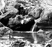 Black and White waterfalls by PASpencer
