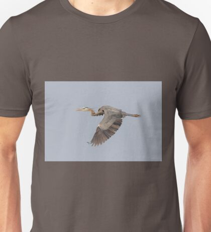 Great Blue Heron In Flight 2015-4 Unisex T-Shirt