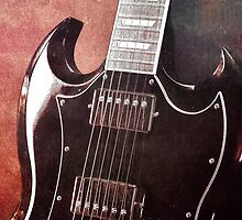Gibson SG Standard Red Grunge by koping