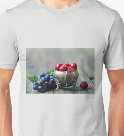 Cherries and grapes Unisex T-Shirt
