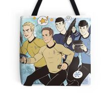 Universes Collide Tote Bag