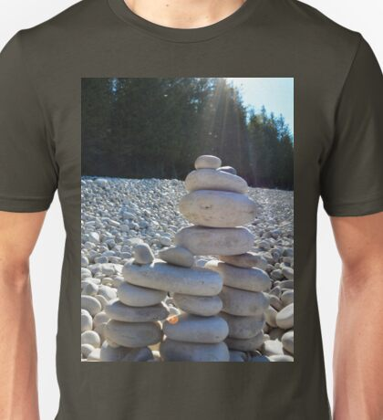 Cairn #2.  Because Andy Goldsworthy rocks (see what I did there?) Unisex T-Shirt