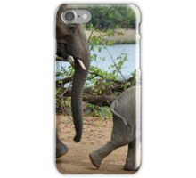 I CAN'T WALK FASTER ! - THE AFRICAN ELEPHANT – Loxodonta Africana iPhone Case/Skin