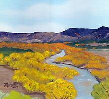 Rio Arriba Valley , New Mexico ~ Oil Painting by Barbara Applegate