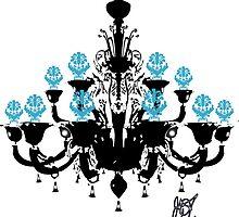 Chandelier Black Blue by greggtf