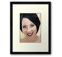 Oil painting of my mate Kate Framed Print
