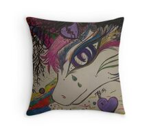 Unicorn's Sorrow Throw Pillow