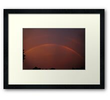 Storm's End - 3 Sunset Rainbow Framed Print