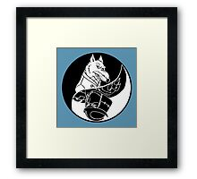 TMNT - Yin Yang - Splinter & Shredder 04 - Black Framed Print