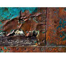 Rust & Wood Photographic Print