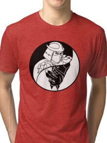 TMNT - Yin Yang - Shredder & Splinter 02 - Black Tri-blend T-Shirt