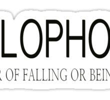 fear of falling in love  Sticker
