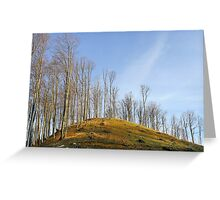 Empty hill curve in warm colours Greeting Card