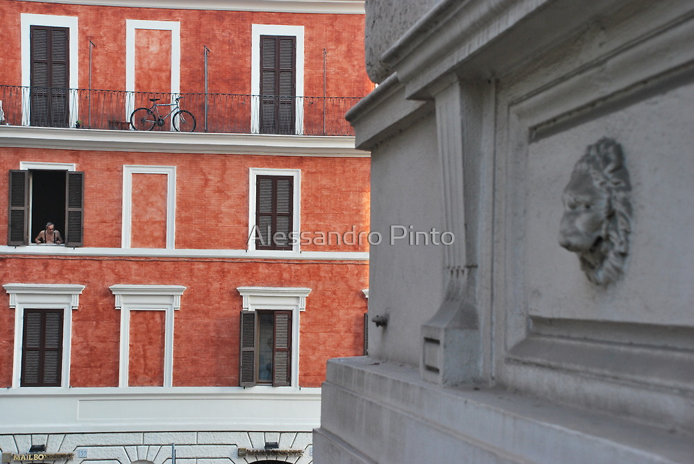 Men on the Window in Via Cavour by Alessandro Pinto