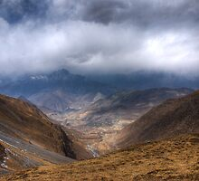 Mountains and valley down by Erdj