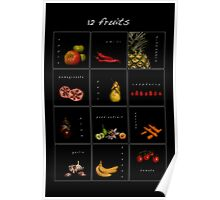 12 fruits Poster