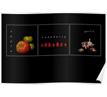 3 fruits (3) Poster