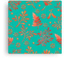 - Red leaves pattern 2 - Canvas Print