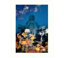 Mary Reflecting Art Print