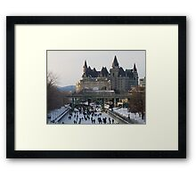 Skaters on the Ottawa Canal Framed Print