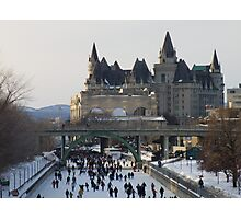 Skaters on the Ottawa Canal Photographic Print