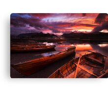 Sunset on Derwent Water, The Lake District Canvas Print